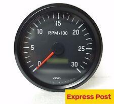 VDO INTERNATIONAL TACHOURMETER 12V/24V 100mm 3000 RPM 333055002 tachour-tacho