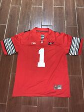 Justin Fields Jersey Ohio State Buckeyes Playoff Red Size - Large