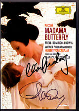 DVD Placido DOMINGO Chrsita LUDWIG Signed PUCCINI Madama Butterfly FRENI KARAJAN