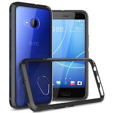 Black / Clear Hybrid TPU Bumper Hard Back Phone Cover Case For HTC U11 Life