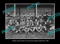 OLD POSTCARD SIZE PHOTO ADELAIDE SA SOUTH ADELAIDE FOOTBALL CLUB c1880