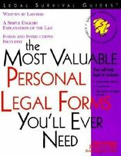 The Most Valuable Personal Legal Forms You'll Ever Need, Warda, Mark, Ray, James