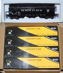 K-Line Diecast PRR Pennsylvania 4-Bay Hopper 4 Pack O Gauge 3-Rail K626-1892 New