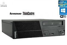 Fast Lenovo Quad Core i5 SFF Desktop PC 16GB 2TB 256GB SSD Windows 10 Display P