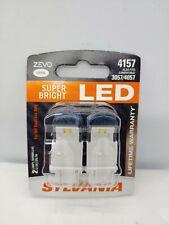 Sylvania ZEVO LED Light 4157 WHITE 6000K Two Bulbs Fits 3057/4057