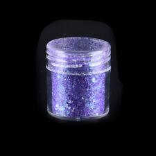 10ml Purple Color Nail Glitter Dust Fine Mix 3D Nail Sequins Glitter Powder LJ