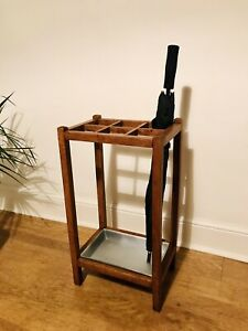 Oak George V 1930 Umbrella Stick Stand With Crown, Date & CWS Impressed Stamps