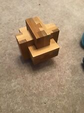 Interlocking Dovetail Burr Puzzle, Along With Instruction.
