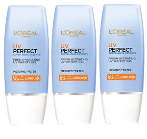 L'Oreal Paris UV Perfect Super Aqua Essence SPF 50+ - 30ml x 3 (Pack of 3)