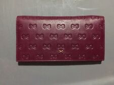 63d65a315 TED BAKER WOMEN WALLET BURGUNDY SNAP CREDIT CARDS LARGE NEW