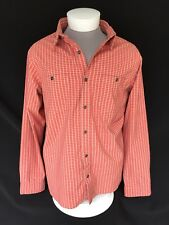 NIKE acg Orange Plaid Button Down Casual Long Sleeve Shirt Mens Extra Large - XL