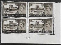 Sg759 No WMark Bradbury/Wilkinson Castles 2/6 Cyl Block 10A UNMOUNTED MINT/MNH