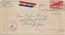 6c Transport 1943 U.S. Navy U.S.S. Morris Type 3 DD 417 Concession Airmail to Lo