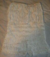 Vintage 1960s White Ruffled Nylon Lace Petti-Pants Tap Panty Bloomers Small Size