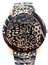 GUESS Women U0425L3 Analog Rose Gold-tone Animal Print Bracelet $185