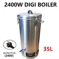 35L/240V/2400W  Digital Stainless Steel Turbo Boiler for Home brew Distillery