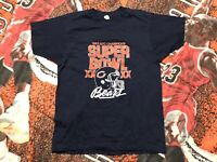 Vintage 1985 Chicago Bears Super Bowl XX NFC Champs Shirt Single Stitch Mens S
