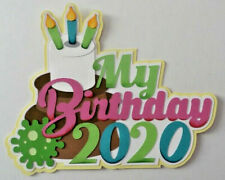 Premade Die Cut Paper Pieced Title for Scrapbooking Pages, 2020 Birthday, Family