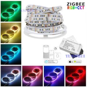 ❤❤❤ 5M 10M Set ZigBee RGB+CCT RGBW Kontroller+LED Lichtband + Netzteil für Echo