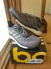 Adidas Boost Mens Size 8 Supernova Running Shoes BB3477 Black Silver White New