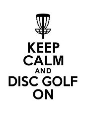 Disc Golf Vinyl Sticker Decal Keep Calm