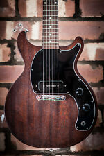 AWESOME GIBSON LES PAUL JUNIOR TRIBUTE DC WORN BROWN ELECTRIC GUITAR DOUBLE CUT