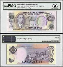 Philippines 100 Piso, 1949 (ND 1978), P-164b, UNC, M. Roxas, PMG 66 EPQ