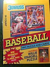 1991 Donruss Baseball Series 1 Card Wax Box 36 Factory Sealed Packs