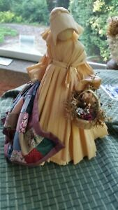 Corn Husk Doll with Quilt