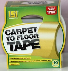 CARPET TO FLOOR TAPE ADHESIVE STRONG & RELIABLE DOUBLE SIDED 48MM 10M