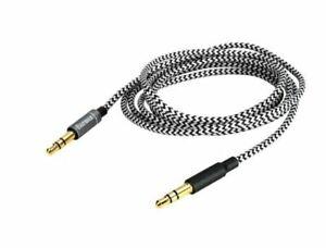 Audio nylon Cable For Nixon The RPM/Nomadic/Trooper/Master Blaster Headphones