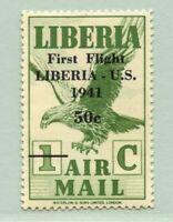 Liberia 1941 Vögel Adler Erstflug 327 Ungebraucht MLH 2 Foto-Atteste / 601 RAR