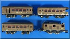 1920s IVES STANDARD GAUGE 3236 LOCOMOTIVE & 184 185 186 PASSENGER CARS TRAIN SET