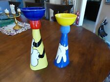 Disney Gallery Mickey Mouse Pottery set of holders by Lee LE 5/100 RARE, DEAL