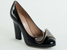 New   Emporio Armani Black&Gray Patent Leather Shoes Size 36 US 6