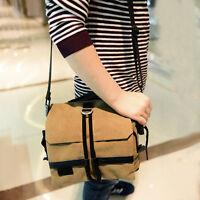 Vintage Canvas Shoulder Bag DSLR SLR Camera Messenger Bag For Sony Canon Nikon
