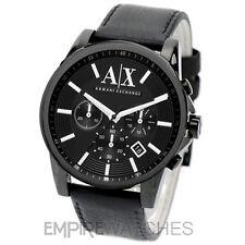 *NEW* MENS ARMANI EXCHANGE BANKS BLACK CHRONO WATCH - AX2098 - RRP £165.00
