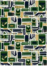 Marimekko 2 yards Svaale cotton fabric, Finland, Christmas