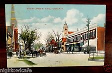 Candy Store Main Street from Post Office Tilton New Hampshire NH Postcard 1912