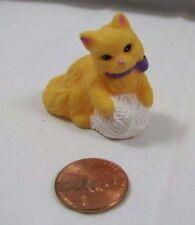 FISHER PRICE Loving Family Dollhouse ORANGE CAT KITTY PET w/ BALL of STRING