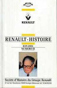 revue renault histoire juin 2003, n°15