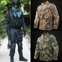Mens Tactical Combat Airsoft Suit Camo Set Jacket -Pants  Military BDU Uniform