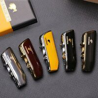 Lighter Pocket Metal Windproof 3 Jet Blue Wooden Flame Torch Punch Accessories