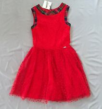 JUNIOR GAULTIER GIRLS POLKA DOT RED TULLE DRESS 12A 11-12 yrs Jean Paul
