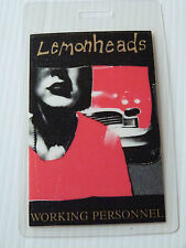 LEMONHEADS Laminated WORKING PERSONNEL Backstage Tour Pass