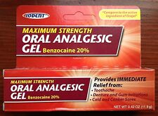 IODENT - MAXIMUM STRENGTH ORAL ANALGESIC GEL, BENZOCAINE 20%