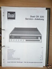 Service-Manual für Dual CR 220 Receiver ORIGINAL!