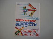 advertising Pubblicità 1971 CHEWING GUM BROOKLYN PERFETTI GOMME