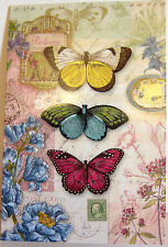 Punch Studio BUTTERFLY'S GARDEN NOTE CARDS.  BEAUTIFUL!  Package of 12.