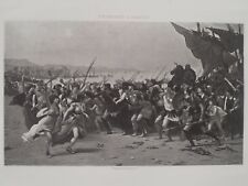 The Victors Of Battle of Salamis Persian Empire Greeks 1894 Photogravure